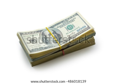 dollar heap isolated on white