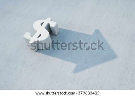 dollar is grow, 3d concept - stock photo