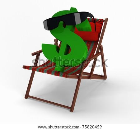 Dollar is happy. - stock photo