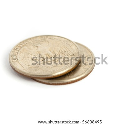 dollar isolated - stock photo