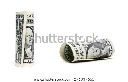 Dollar isolated on white background