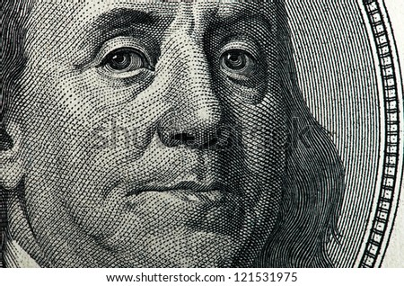 dollar macro - stock photo