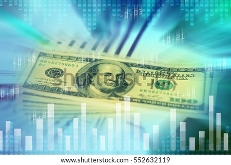 Dollar Money Zoom Burst, success and profitable business concepts, Financial and business concept