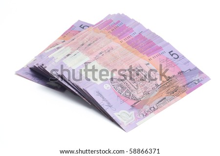 Dollar Notes on White Background - stock photo