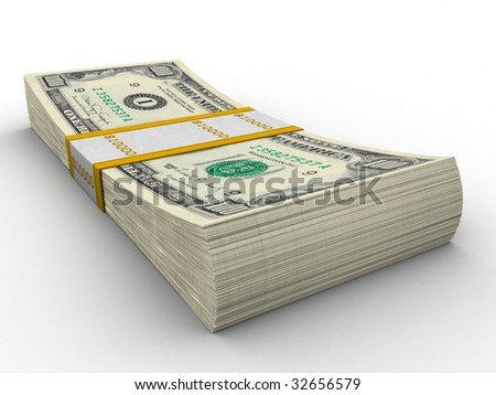 Dollar pack - stock photo
