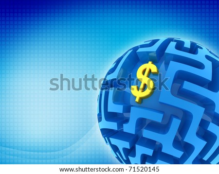 Dollar puzzle. Business abstract background - stock photo