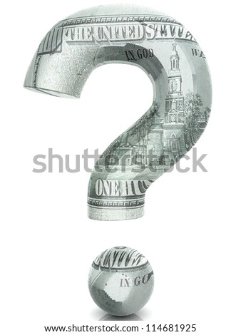 Dollar question - stock photo