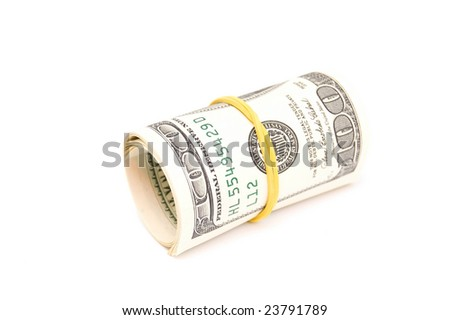 Dollar roll, isolated on white