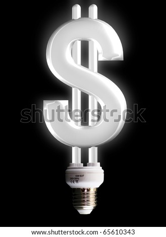 dollar sign lamp - stock photo