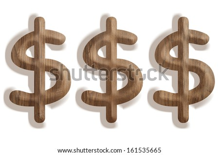 Dollar signs - stock photo