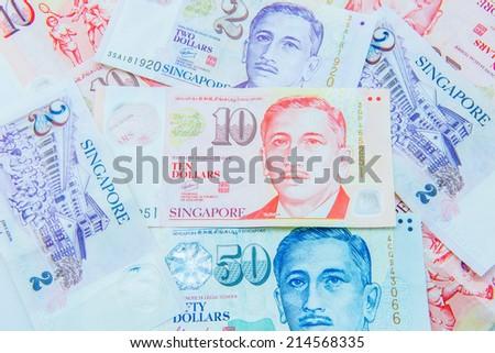Dollar Singapore currency: money - stock photo