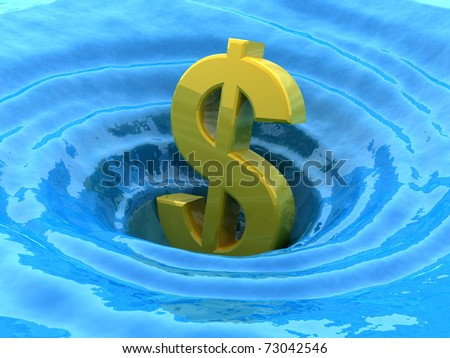Dollar sinks - stock photo