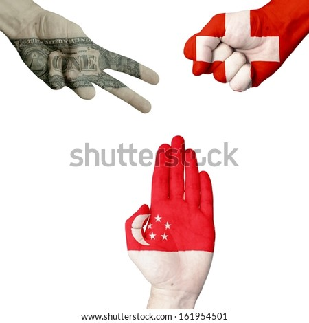 Dollar Switzerland Singapore rock-paper-scissors