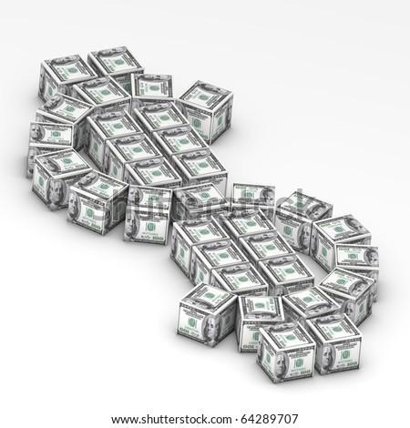 Dollar symbol - stock photo