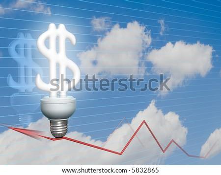 Dollar symbol of idea, money, economy, power and business - stock photo