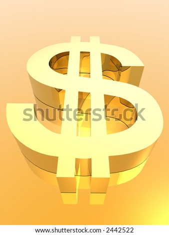 dollar symbol (see more in my portfolio) - stock photo