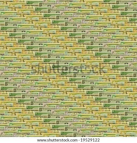Dollar texture background - stock photo