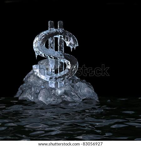 Dollar value is slump. High-resolution 3d rendering - stock photo