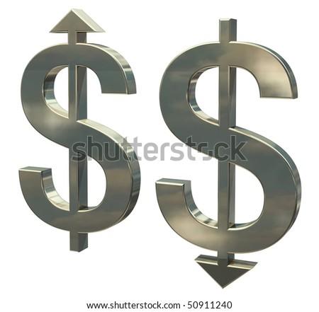 Dollar weak or strong? - stock photo