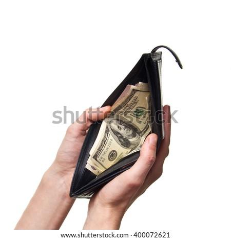 dollard in purse - stock photo