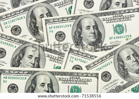 Dollars background - abstract business money texture - stock photo