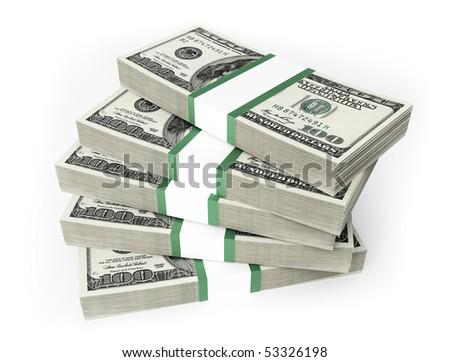 dollars bills - stock photo