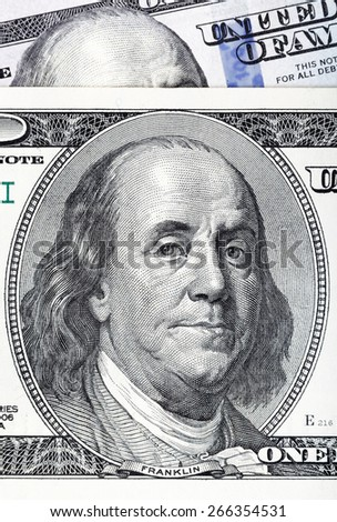 Dollars close-up. Highly detailed picture of U.S. America money.