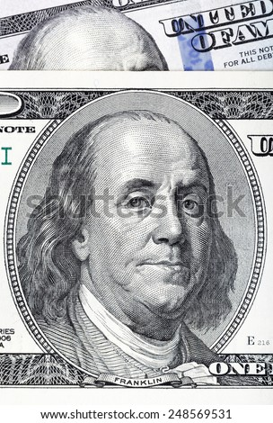 Dollars closeup. Highly detailed picture of U.S. America money.