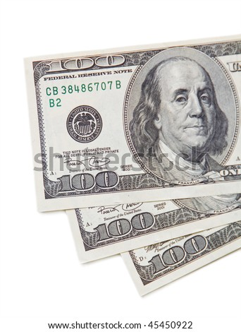 Dollars currency on right - stock photo