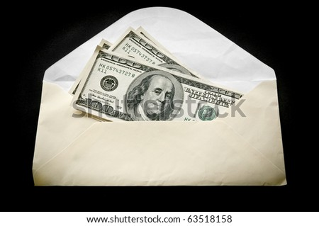 Dollars in an envelope - stock photo