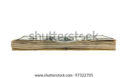 dollars isolated on white - stock photo