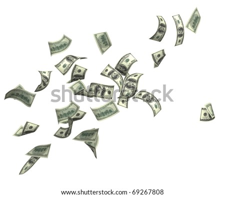 Dollars. Isolated over white - stock photo