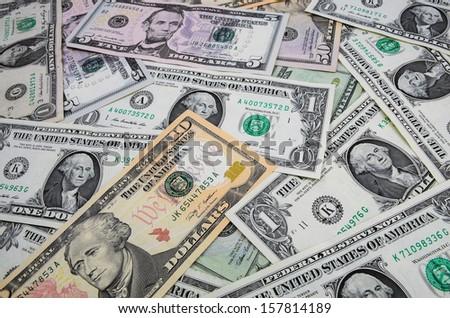 dollars money background - stock photo
