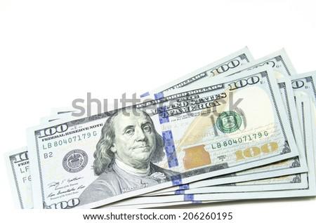 dollars, money background - stock photo