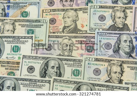 Dollars of the USA - stock photo