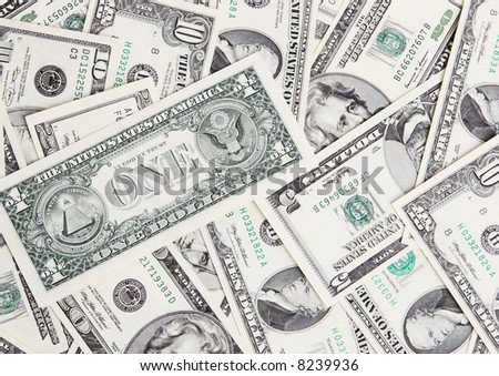 Dollars of U.S.A. - stock photo