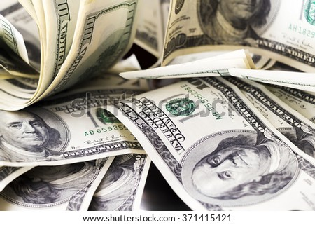 Dollars on the table - stock photo