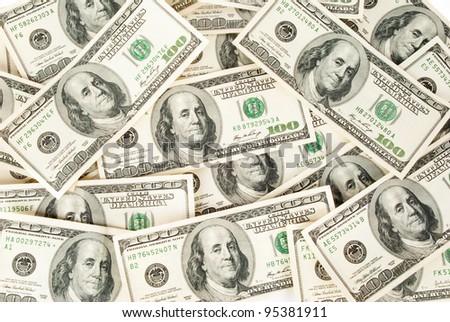 Dollars seamless background. - stock photo