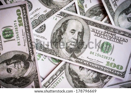 Dollars seamless background. High resolution seamless texture