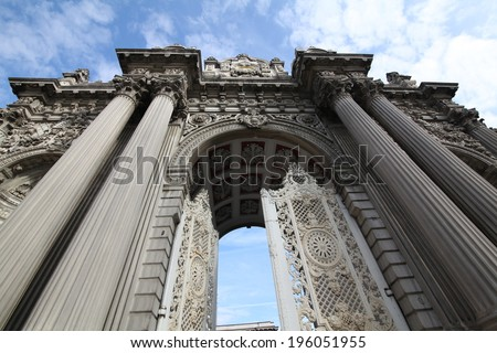 dolmabahce palace - stock photo