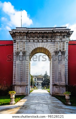 Dolmabahce Palace in Istanbul - stock photo