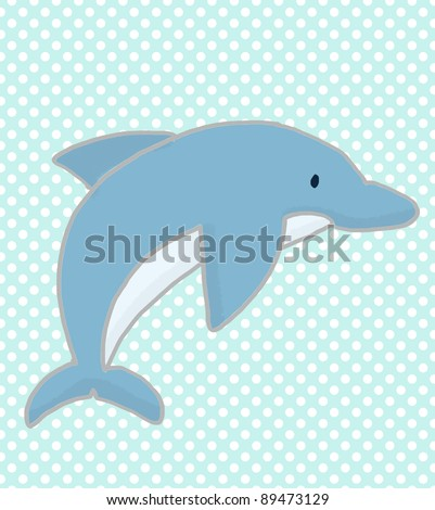 Dolphin character illustration