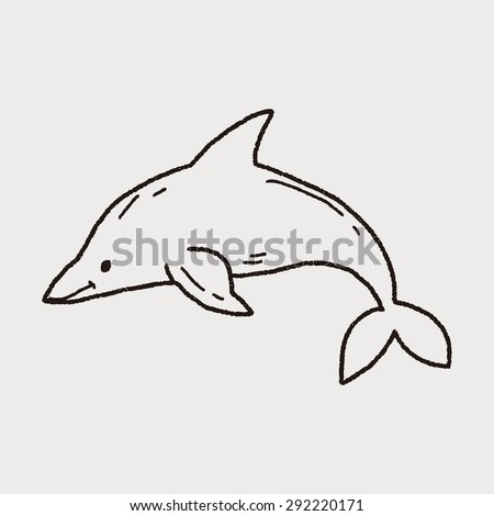 Dolphin+drawing+swimming