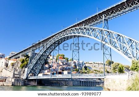 Dom Luis I Bridge, Porto, Portugal - stock photo