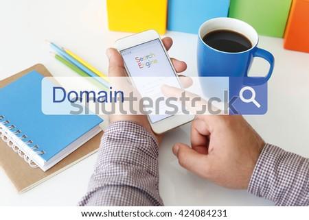 Domain Concept - stock photo