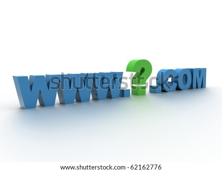 Domain - what domain name to choose  3d illustration - stock photo