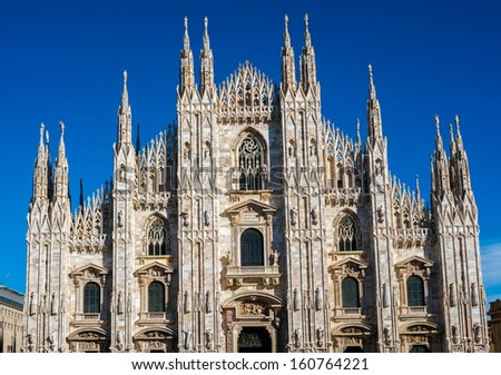 Dome cathedral in Milan, Italy - stock photo