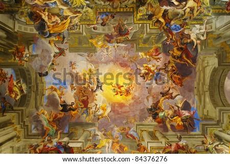 Dome of church of Saint Ignatius of Loyola. Rome, Italy - stock photo