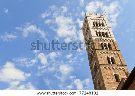 Dome of Lucca / Duomo di Lucca, Tuscany, Italy - stock photo