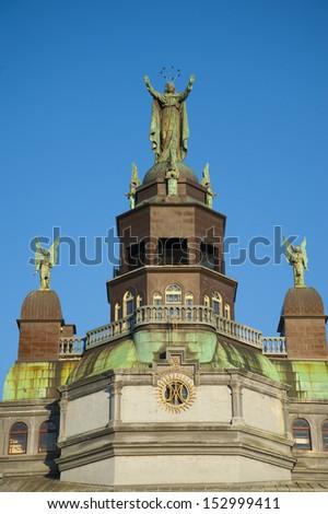 Dome of Notre Dame De Bon Secours Chapel in Montreal - stock photo